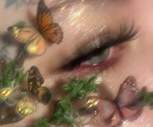 butterfly, makeup, and aesthetic image