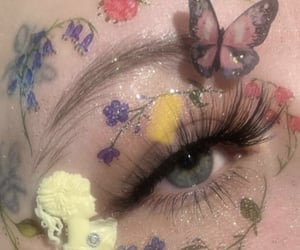 aesthetic, makeup, and flowers image