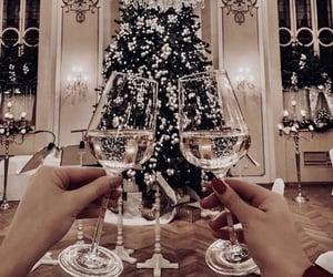 christmas, lights, and drink image
