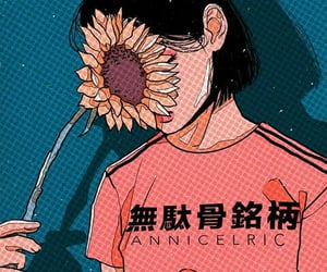 aesthetic, anime, and flower image