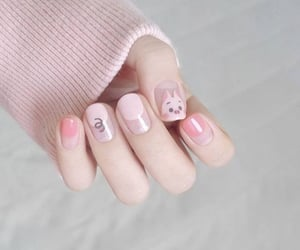 nails, pink, and unhas image