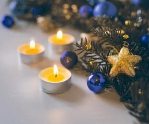 blue, candles, and etsy image