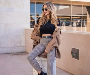 black boots, black top, and coat image