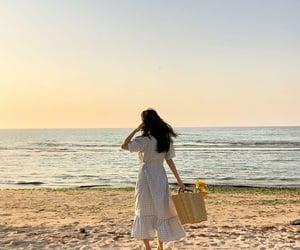 beach, ocean, and sand image