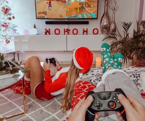 best friends, christmas, and couple image