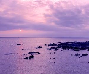 sky, purple, and ocean image