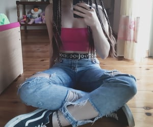 aesthetic, edgy, and grunge girl image