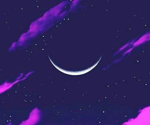 aesthetic, dark, and moon image