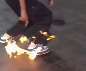 aesthetic, fire, and skate image