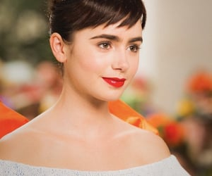 pretty, lily collins, and beauty image