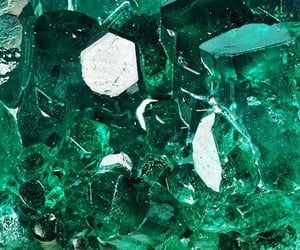 crystal, green, and aesthetic image