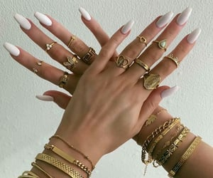 gold, jewelry, and nails image