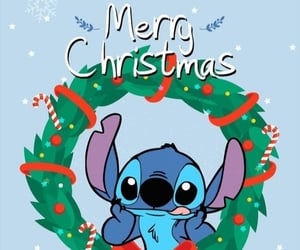 wallpaper, stitch, and christmas image