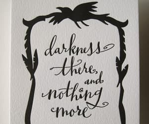 black and white, calligraphy, and halloween gift image