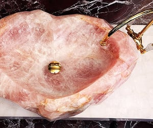 pink, sink, and home image