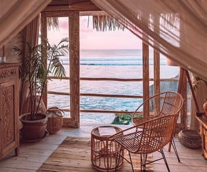 home, beach, and decor image