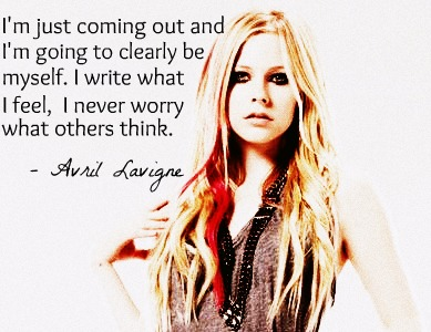 Fat Loui Diaries Avril Lavigne Quotes On Her Pict D