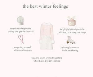 snow, aesthetic, and pink image