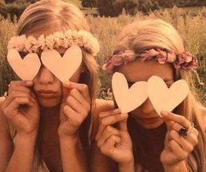 heart, love, and girls image