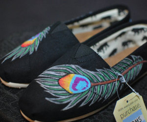 toms, shoes, and peacock image