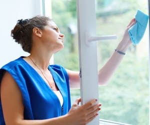 cleaning hacks, window cleaning, and cleaning tips image