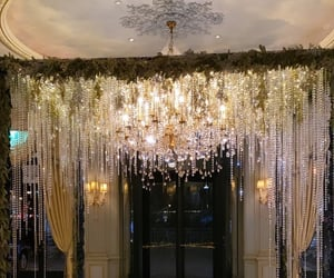 chandelier, glamorous, and rich image