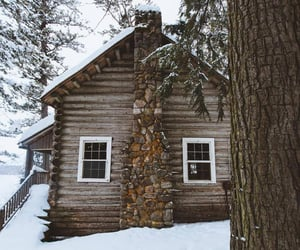 christmas, cold, and cottage image