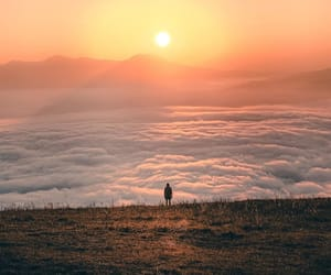 clouds and sunrise image