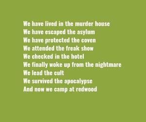 asylum, murder house, and ahs freak show image