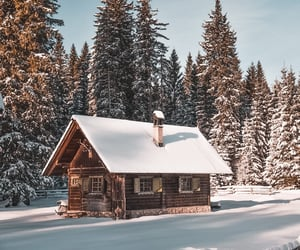 house, photography, and snow image