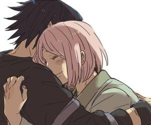 sasusaku, naruto, and anime image