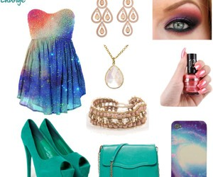 coral, cosmic, and dress image