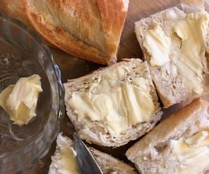 food, bread, and butter image