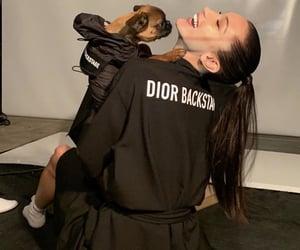 dior, bella hadid, and backstage image