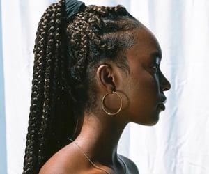hair, black girl, and black women image
