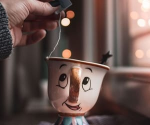 beauty and the beast, cup, and tea image