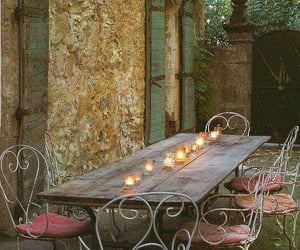 candles, romantic, and table image