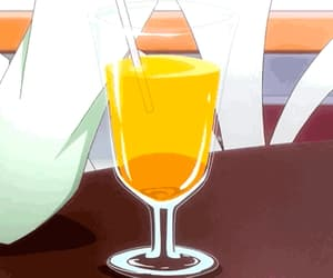 anime, drinks, and orange juice image