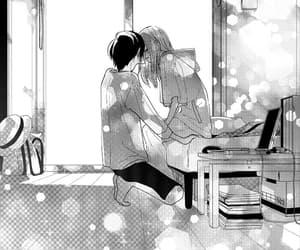 black&white, manga boy, and manga shojo image