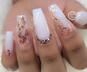 fake nails, long nails, and nails image