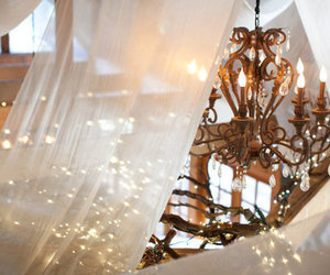 light, chandelier, and pretty image