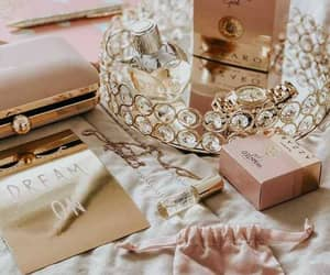 aesthetic, gold, and pink image