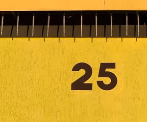 25, facade, and numbers image
