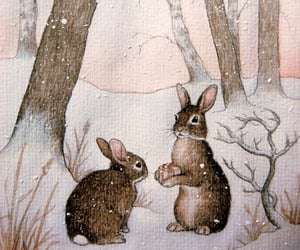 rabbit, bunny, and winter image