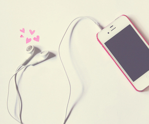 music, pink, and iphone image