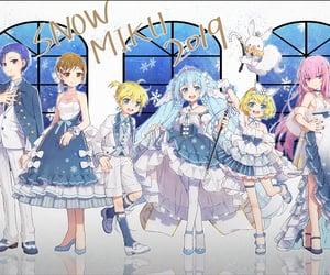anime, kagamine len, and rabbit image