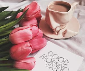 coffee and tulips image