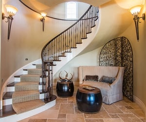 design, home, and hallway image