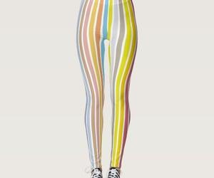 fashion, pattern, and rainbow image
