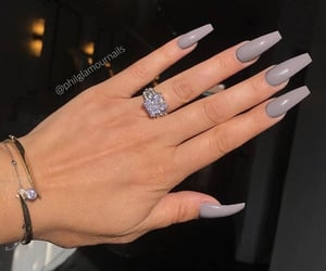 nails, beauty, and grey image